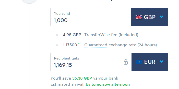 Low Cost Money Exchange- TransferWise