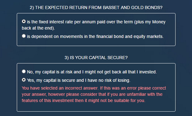 Basset Gold Investor Questions