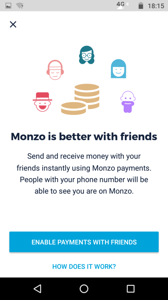 Monzo Split the bill between friends