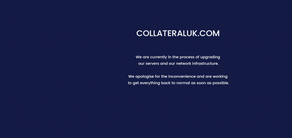 Collateral goes into administration